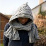 photo tricot modele tricot echarpe a capuche 7