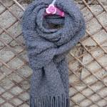 photo tricot modele tricot echarpe adulte 4
