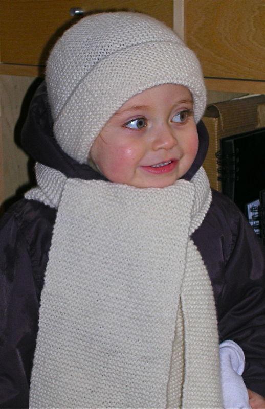 photo tricot modele tricot echarpe bonnet 10