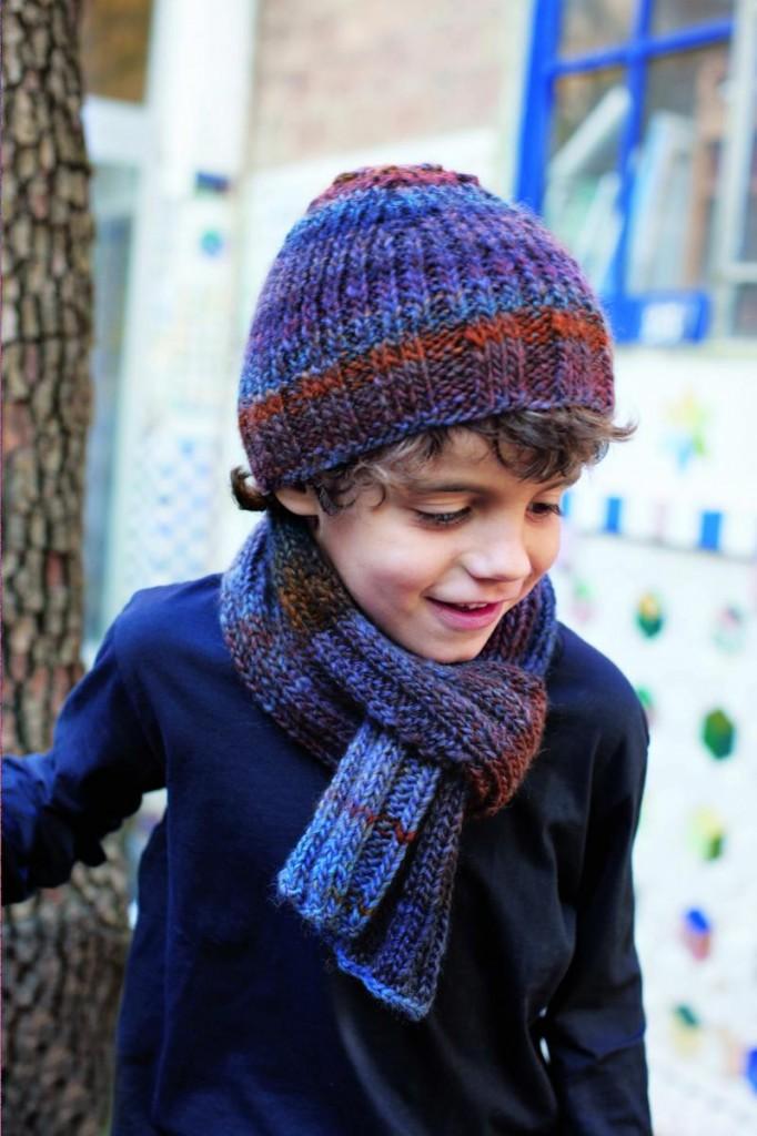 photo tricot modele tricot echarpe bonnet 14
