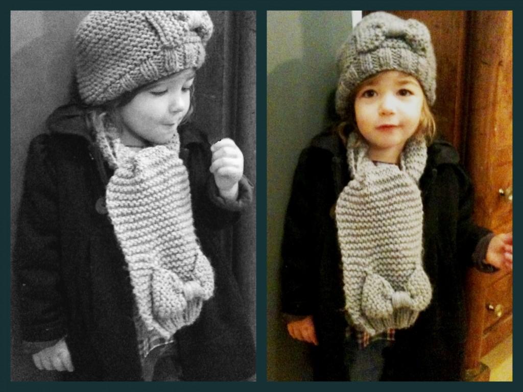 photo tricot modele tricot echarpe bonnet 8