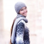 photo tricot modele tricot echarpe bonnet 9