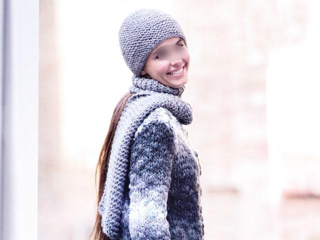 photo tricot modele tricot echarpe bonnet 9
