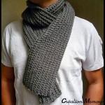 photo tricot modele tricot echarpe moderne 11