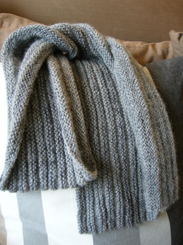 modele tricot echarpe moderne