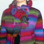 photo tricot modele tricot echarpe moderne 18