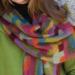 photo tricot modele tricot echarpe moderne 6