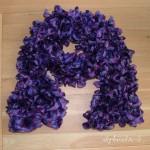 photo tricot modele tricot echarpe ruban 10