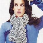 photo tricot modele tricot echarpe ruban 13