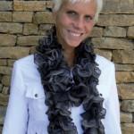 photo tricot modele tricot echarpe ruban 15