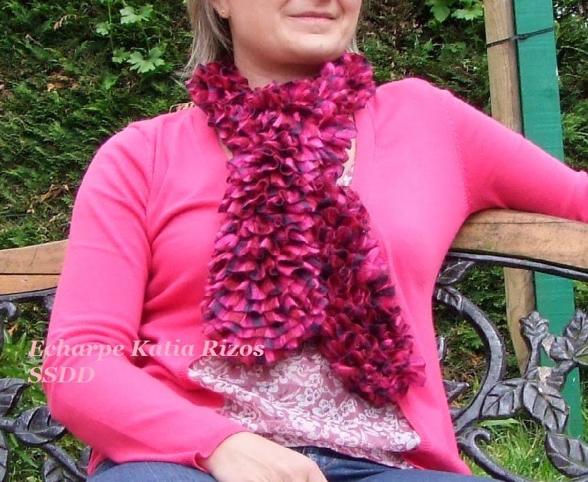 modele tricot echarpe ruban