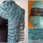 photo tricot modele tricot echarpe ruban 3