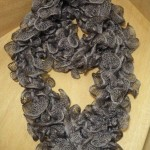 photo tricot modele tricot echarpe ruban 4