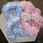 photo tricot modele tricot echarpe ruban 5