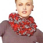photo tricot modele tricot echarpe ruban 7