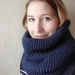 photo tricot modele tricot facile snood 12