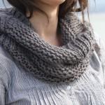 photo tricot modele tricot facile snood 13
