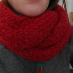 photo tricot modele tricot facile snood 14