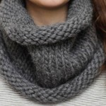 photo tricot modele tricot facile snood 15