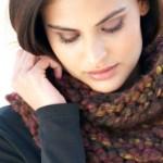 photo tricot modele tricot facile snood 18