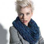 photo tricot modele tricot facile snood 8