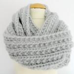 photo tricot modele tricot facile snood 9
