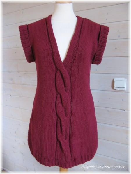 photo tricot modele tricot facile tunique gratuit 13