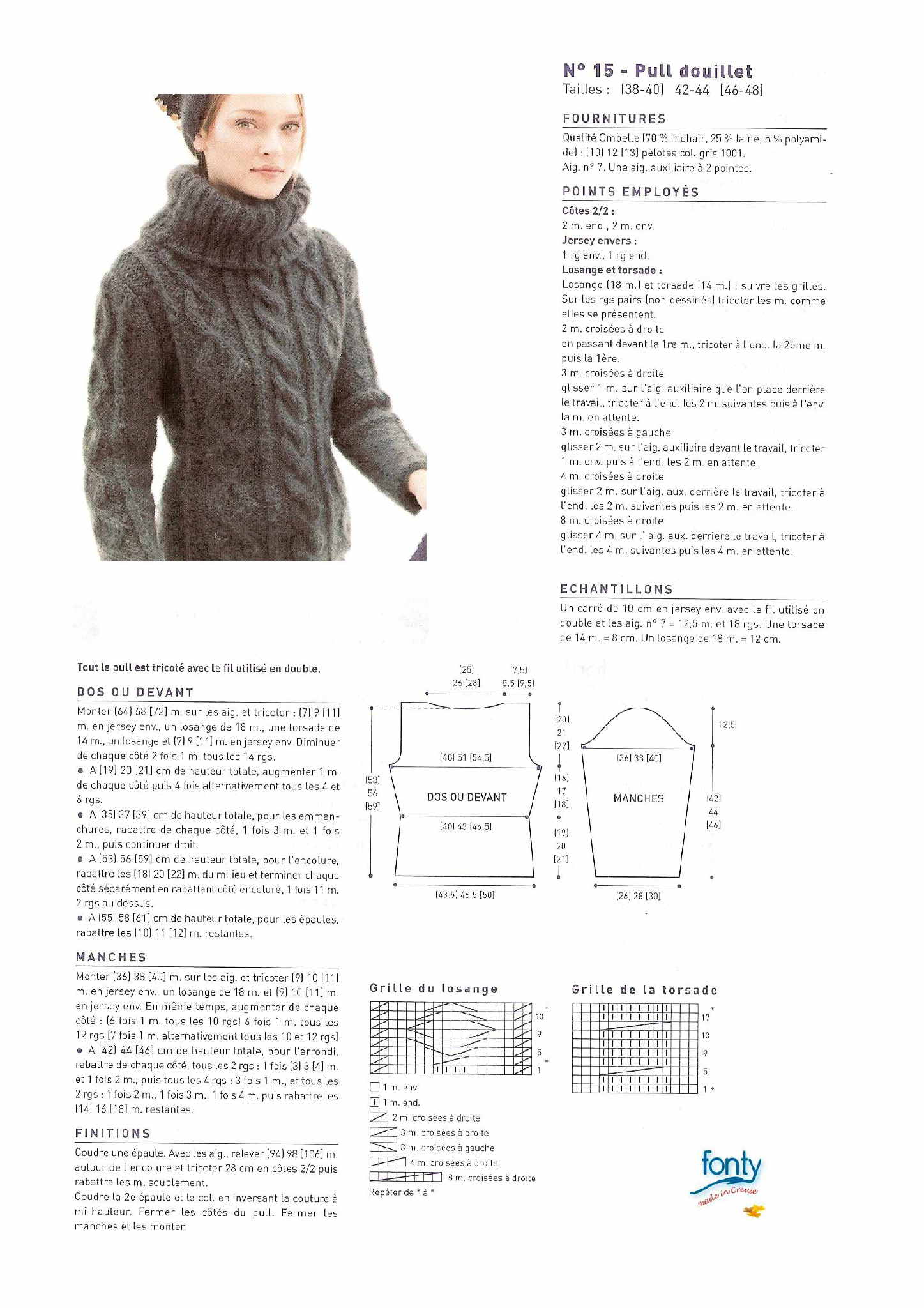 photo tricot modele tricot facile tunique gratuit 18