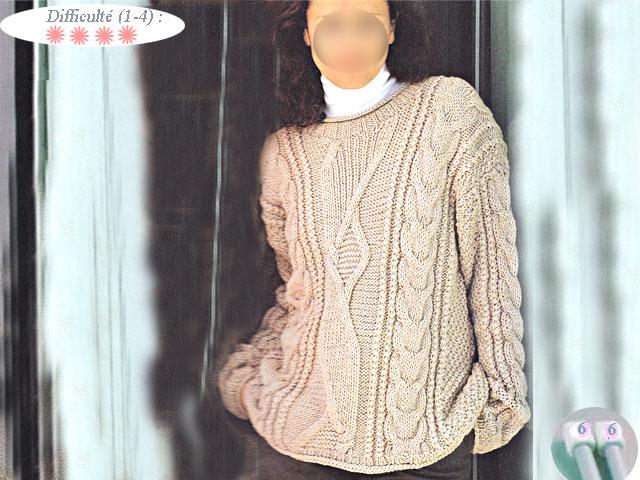 photo tricot modele tricot irlandais femme gratuit 12