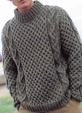 modele tricot pull irlandais homme
