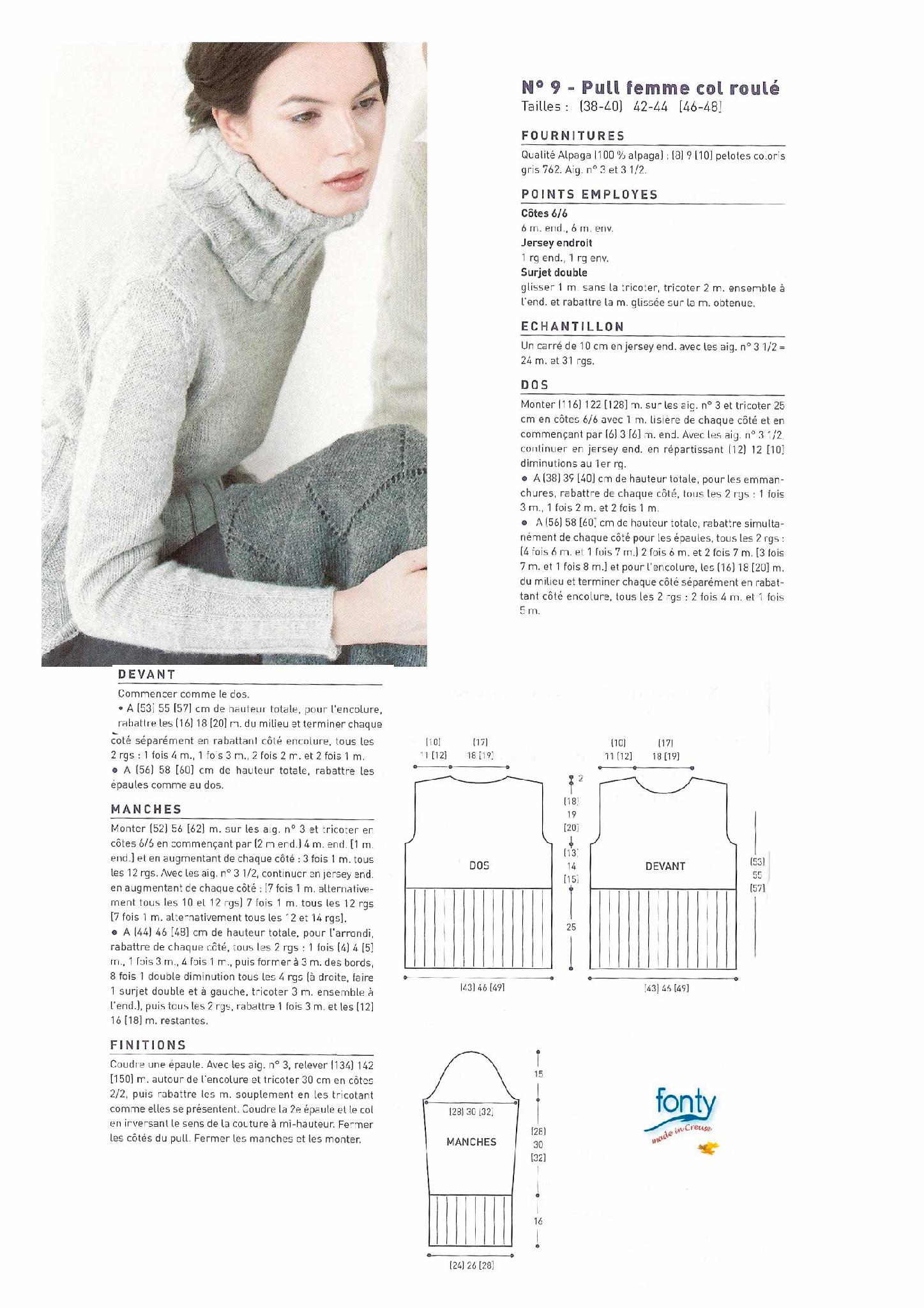 photo tricot modele tricot pour les débutants 12