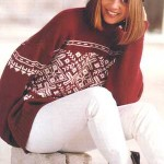 photo tricot modele tricot pull norvegien 16