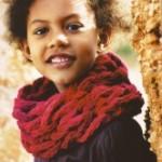 photo tricot modele tricot tour de cou femme 10