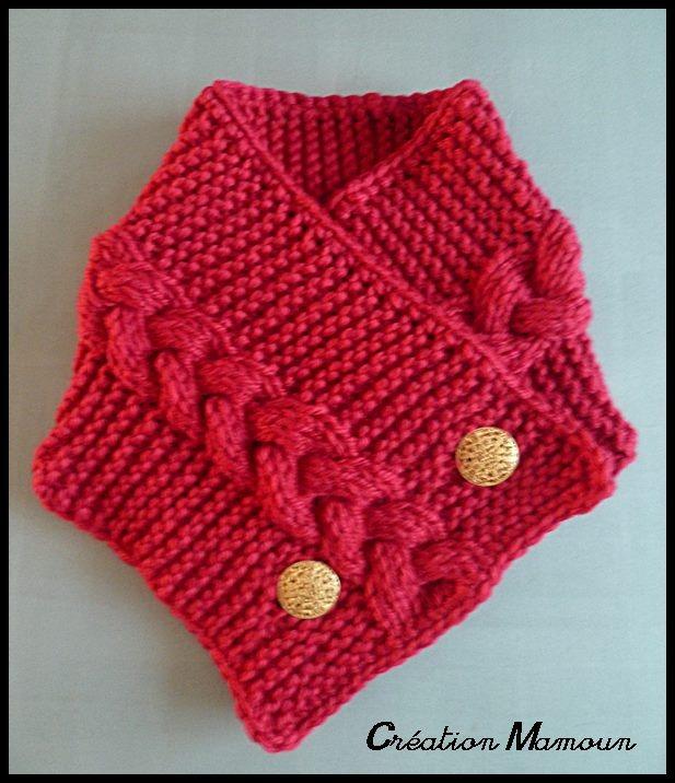 modele tricot tour de cou femme