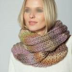 photo tricot modele tricot tour de cou femme 7