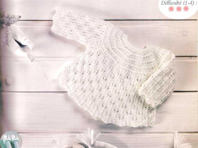 photo tricot modele tricoter layette 14