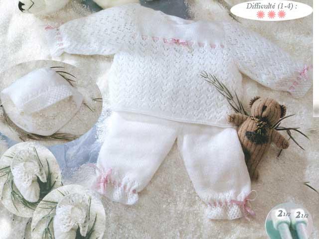 photo tricot modele tricoter layette 3