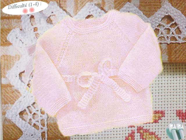 photo tricot modele tricoter layette 5