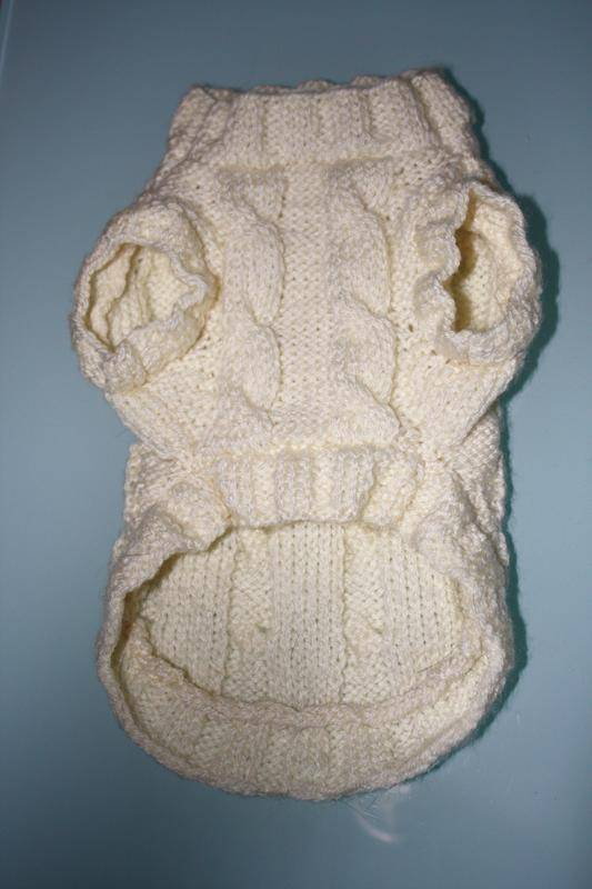 photo tricot modele tricoter pull chien 7