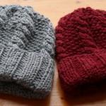 photo tricot patron tricot bonnet point de riz 13