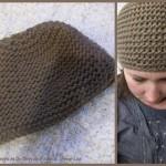 photo tricot patron tricot bonnet point de riz 15
