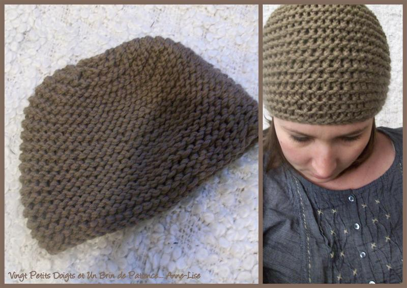 photo tricot patron tricot bonnet point de riz 15