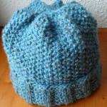 photo tricot patron tricot bonnet point de riz 16