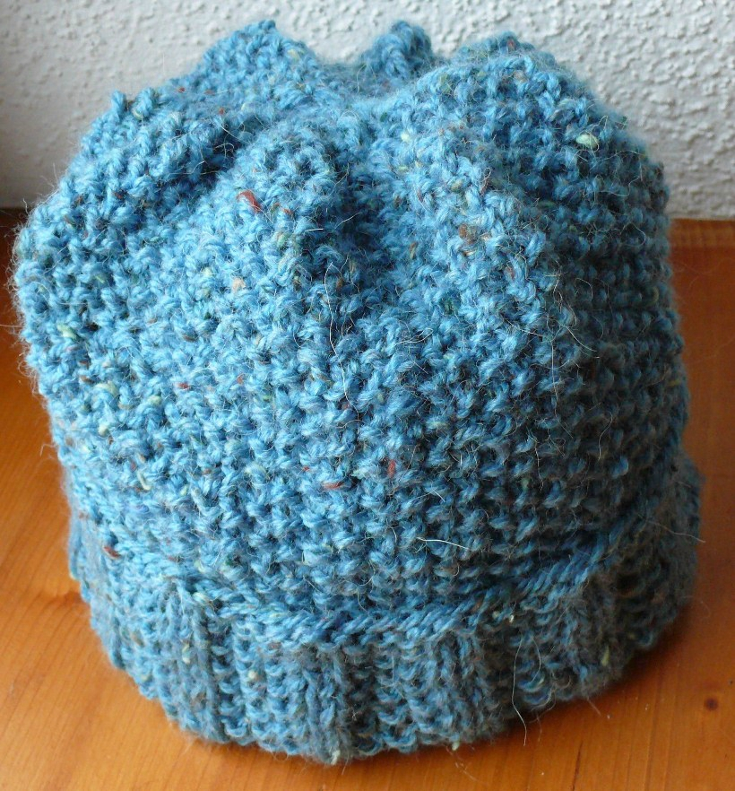 photo tricot patron tricot bonnet point de riz 16