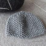 photo tricot patron tricot bonnet point de riz 17