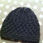 photo tricot patron tricot bonnet point de riz 7