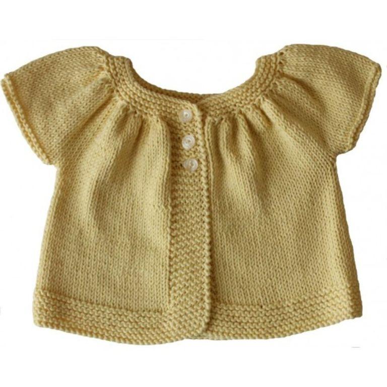 patron tricot chandail bébé