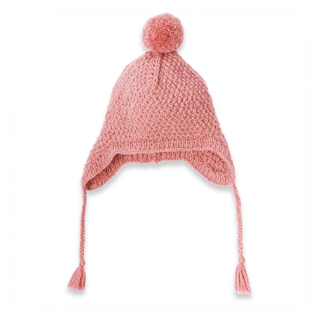 photo tricot tricoter un bonnet en laine pompon