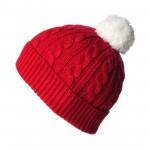 photo tricot tricoter un bonnet en laine pompon 17