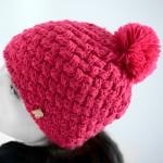photo tricot tricoter un bonnet en laine pompon 9